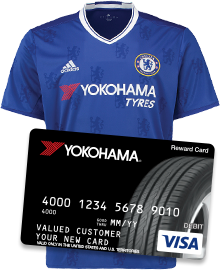 Yokohama Chelsea T-Shirt and Credit Card